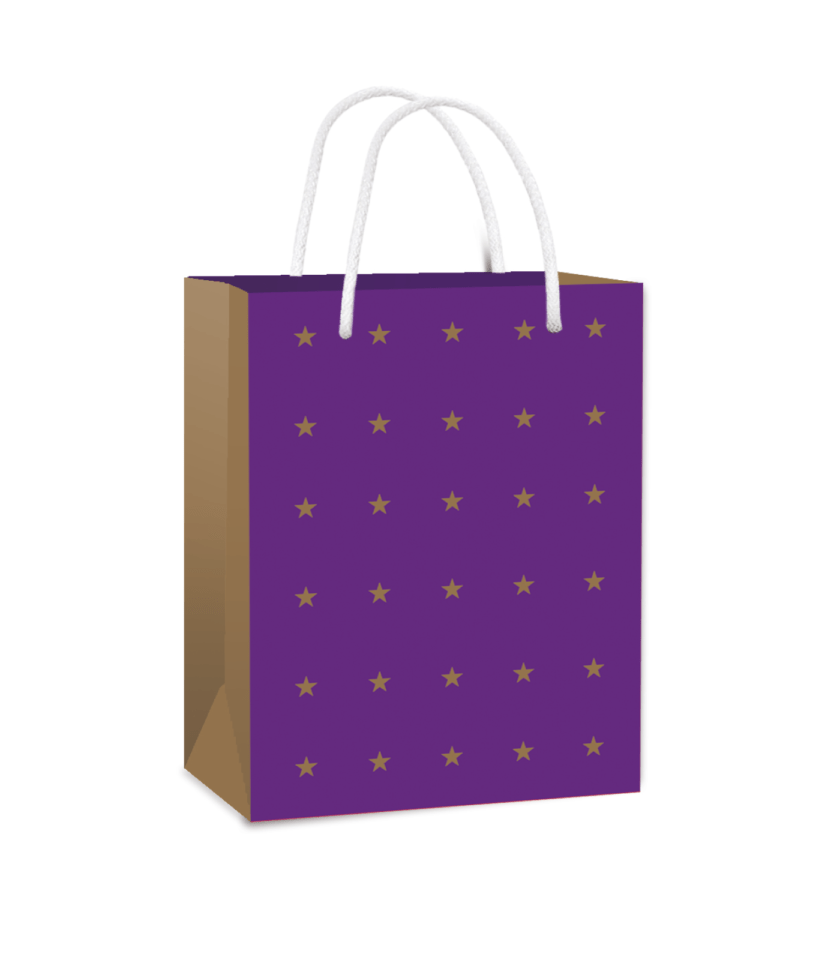 Gift bag with golden stars!
