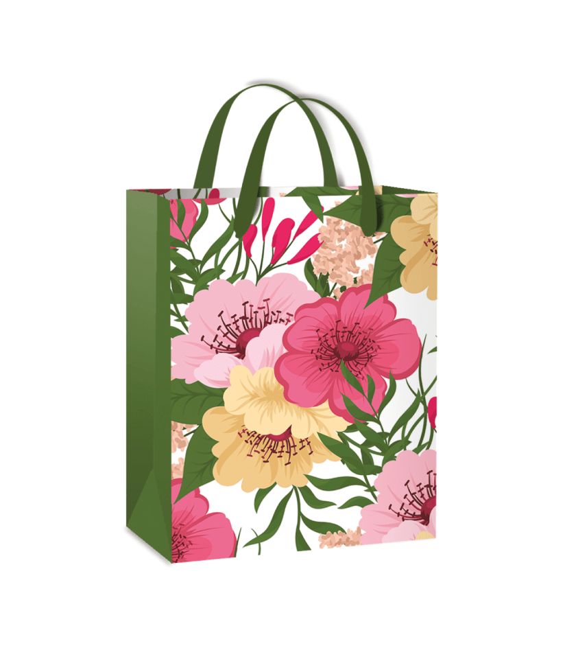 Gift bag with flowers!